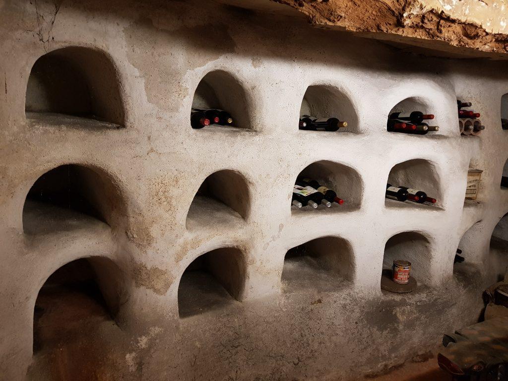 Cellar restoration using lime render, Devon